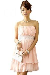 sweet bell (スイートベル) パーティードレス ドレス 結婚式 ピンク FREEサイズ 大きいサイズ