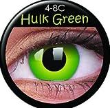 Farbige Kontaktlinsen crazy Kontaktlinsen crazy contact lenses Hulk Green Grüne Kontaktlinsen 1 Paar. Mit Linsenbehälter!