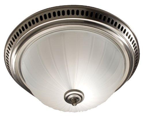nutone 741snnt decorative bath fan with light satin nickel glass globe 70 cfm nathanbradleyidii