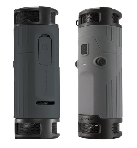 Scosche boomBOTTLE Bluetooth ポータブルワイヤレススピーカー グレイ