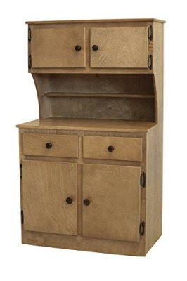 Childrens-Kids-Maple-SINK-STOVE-FRIDGE-HUTCH-COMBO-Play-Furniture-Amish-Made-Harvest-Finish-Amish-Made-USA
