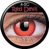 Farbige Kontaktlinsen crazy Kontaktlinsen crazy contact lenses Rot Red Lenses 1 Paar mit 60ml Kombilösung und Linsenbehälter!