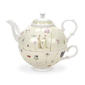 Portmeirion Laura Stoddard Up the Garden Path Tea for One 12 oz.