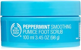 The Body Shop Peppermint Smoothing Pumice Foot Scrub, 3.45-Fluid Ounce