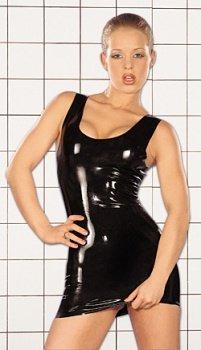 Latex-Minikleid in Schwarz Größe -S-