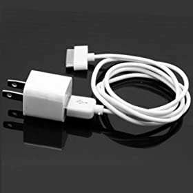 iPhone 3G, 3GS, 4 USB Wall Adapter Charger with USB to Dock Connector cable
