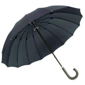 煌(kirameki) 16本骨傘 インディゴ (濃紺) 【高強度で強風に強い/大きな親骨65cm/デュポン社製撥水加工】