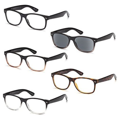 GAMMA-RAY-5-Pack-Spring-Hinged-Reading-Glasses-for-Men-and-Women-Choose-your-Style-Magnification