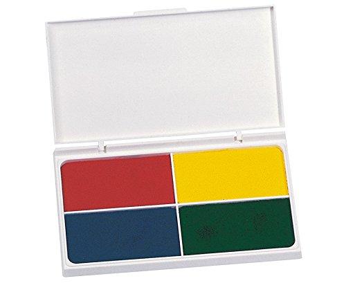 Farbstempelkissen, Stempelkissen, mit 4 Farben, Einzelkissen: 7,5 x 4 cm, wasserlöslich, ungiftig, gut druckend