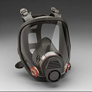 3M 6800 Full Facepiece Respirator - Facepiece Only - Medium Size, Requires Filters or Cartridges