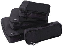 AmazonBasics 4-Piece Packing Cube Set - Small, Medium, Large, and Slim