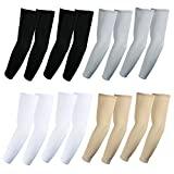 Elixir Arm Sleeves 8 pairs Bundle pack for hiking cycling golf and outdoor activities, 2 pairs each white, black, gray and beige