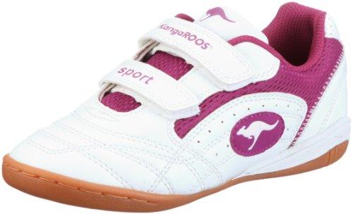 KangaROOS Backyard 10704/063, Unisex - Kinder Sportschuhe, Weiss  (wht/fuchsia 063), EU 30