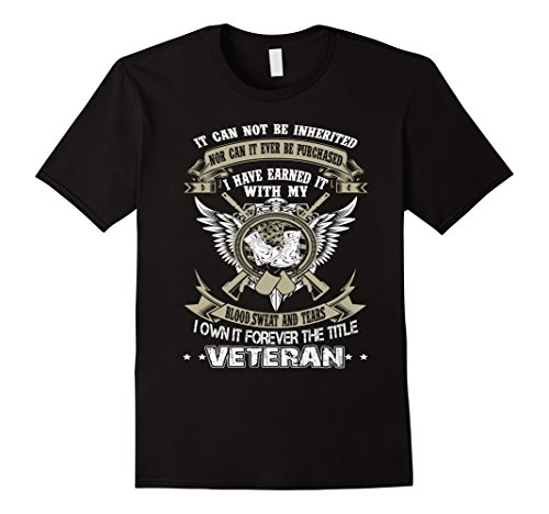 Men's Veterans t shirts - I own it forever the title Veteran XL Black