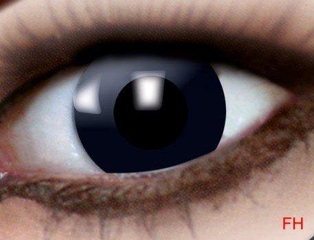 1 Paar farbige Kontaktlinsen schwarze Hexe 12 monats Linse