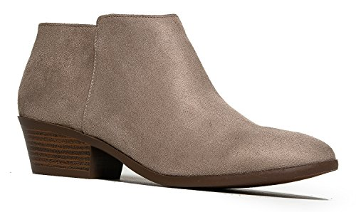 J. Adams Women's Clay  Low Heel Western Ankle Bootie - 7.5 B(M) US