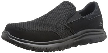 Skechers for Work Men's Flex Advantage Slip Resistant Mcallen Slip On, Black, 12 M US