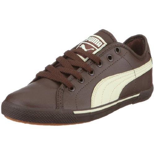 PUMA 351674 01 Benecio Jr, Unisex - Kinder Halbschuhe, Braun (chocolate brown-hay 01), EU 37, (US 5), (UK 4)
