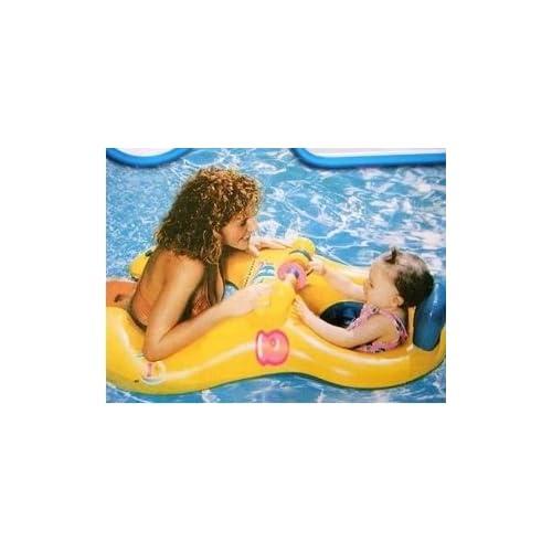 親子うきわ 2人用 黄色 安心 プール 海 赤ちゃん 補助具
