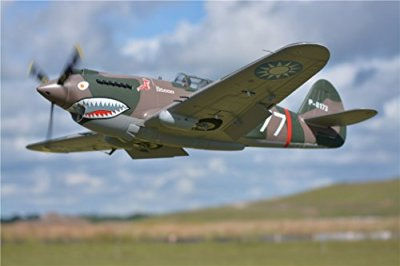 FMS-P-40B-Flying-Tiger-RC-Airplane-6CH-1400mm-551-Wingspan-Camo-with-Flaps-LED-retracts-PNP-Remote-Control-Warbird