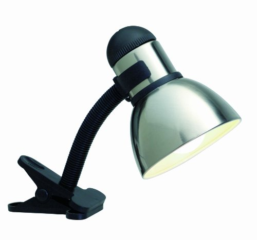 Satco Products SF76/357 Clip On Light with Coiled Cord, Steel/Black