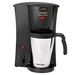 Black & Decker Brew 'n Go Personal Coffeemaker & 15-oz. Travel Mug