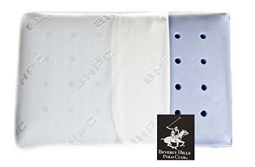 Classic Memory Foam Pillow by Beverly Hills Polo Club - Chiropractor Reccommended Hypoallergenic Vented Cooling Pillows for Back Side and Stomach Sleepers (Standard)