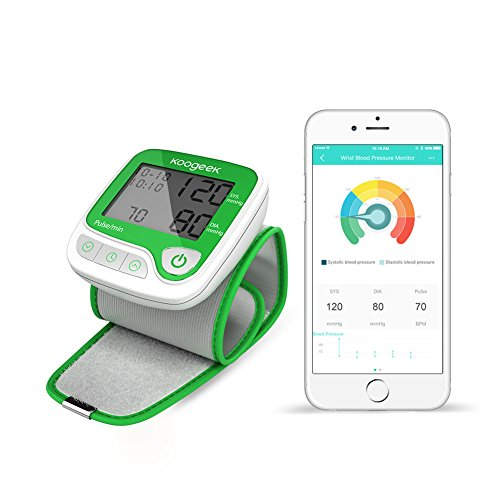 Koogeek スマート血圧計(手首式) デジタル血圧計 心拍観測 自動的携帯にも便利な家庭用血圧計 APPをダウンロード使用 IOSとAndroidに対応