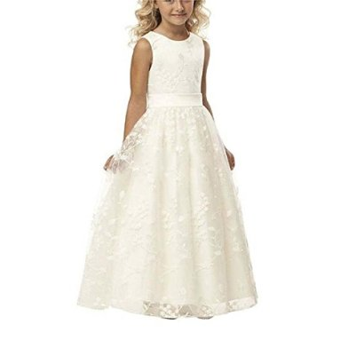 A-line-Wedding-Pageant-Lace-Flower-Girl-Dress-with-Belt-2-12-Year-Old