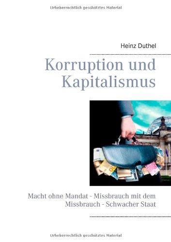 Buchcover: Korruption Und Kapitalismus