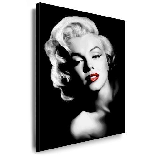 """Marilyn Monroe"" Leinwand Bild 100x70cm k. Poster ! Bild fertig auf Keilrahmen ! Pop Art Gemälde Kunstdrucke, Wandbilder, Bilder zur Dekoration – Deko. Film / Tv Stars Kunstdrucke"