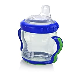 Nuby 2 Handle Cup with Spout, Colors May Vary, 7 Ounce