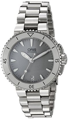 Oris-Womens-Aquis-Swiss-Stainless-Steel-Automatic-Watch-ColorSilver-Toned-Model-73376524143MB