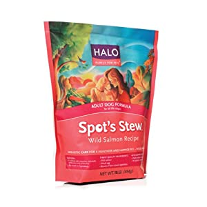 Halo Spot's Stew Natural Dry Dog Food, Adult Dog, Wild Salmon Recipe, 18-Pound Bag