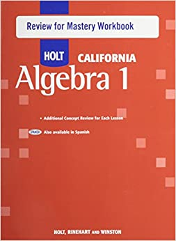 Amazon Holt Algebra 1 California Review For Mastery