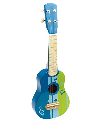 Hape-Early-Melodies-Blue-Ukulele-Wooden-Instrument