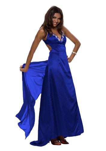 Sehr schönes langes Abendkleid, Farbe dunkelblau, Gr.40 von Astrapahl