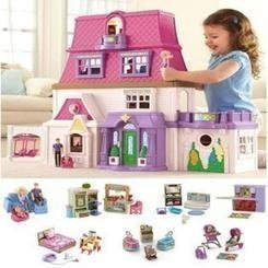 EXCLUSIVE-Loving-Family-Dollhouse-7-rooms-of-furniture-with-tons-of-other-accessories-and-extras