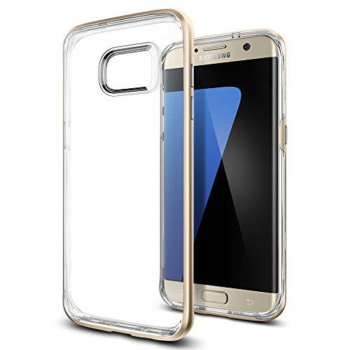 【Spigen】Galaxy S7 Edge ケース, ネオ・ハイブリッド クリスタル [二重構造 背面 クリア] ギャラクシー S7 エッジ 用 (Galaxy S7 Edge, シャンパン・ゴールド)