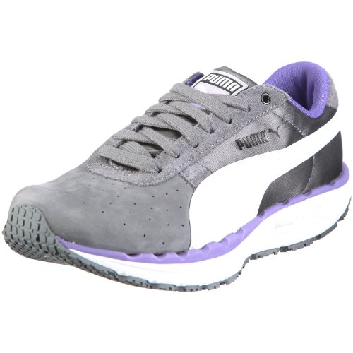 Puma BodyTrain LS Nbk Wn's 185653, Damen, Sportschuhe - Fitness, Grau (steel grey-white-ultra violet 02), EU 38.5 (UK 5.5) (US 8)