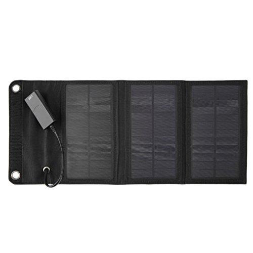 ICOCO ソーラーチャージャー 折りたたみ式 ソーラーパネル充電器 ソーラーチャージャー ソーラーパネル ソーラー 充電器 パワーバンク/モバイルチャージャー   USBポート 6W