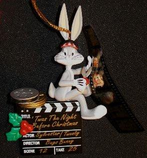 Bugs Bunny Film Editor Christmas Ornament