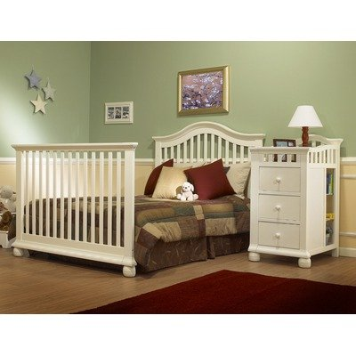 Sorelle Cape Cod Crib Adult Full Size Bed Conversion Rails In French