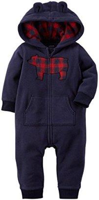 Carters-Baby-Boys-HoodedEared-Romper-Baby-Bear-Navy-18M