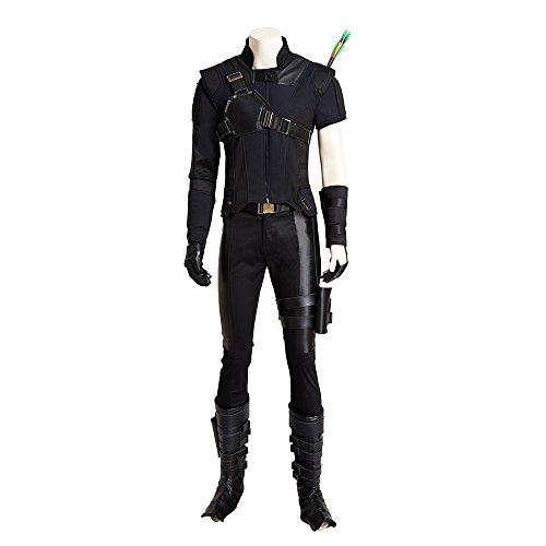 MLYX Men's Captain America Civil War Hawkeye Cosplay Costume Deluxe Outfit Adult (Medium)