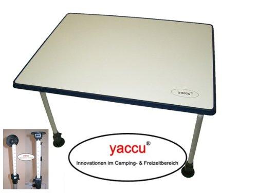 YACCU Campingtisch 80 x 60 cm stufenlos höhenverstellbar