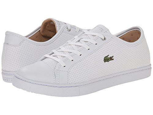 [ラコステ] Lacoste レディース Showcourt Piq3 スニーカー White/White US5.5(22cm) - M [並行輸入品]