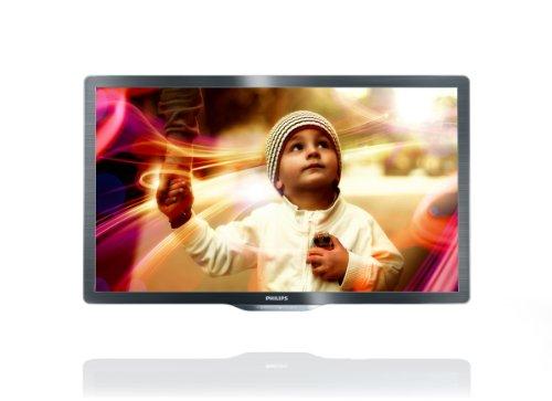 Philips 55PFL6606K/02 139 cm (55 Zoll) LED-Fernseher, Energieeffizienzklasse A+  (Full-HD, 400 Hz PMR, DVB-T/-C/-S, Smart TV) dunkel gebürstetes Silber