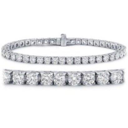 2-12-Carat-Classic-Tennis-Bracelet-14K-White-Gold-Value-Collection