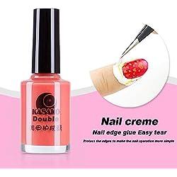 Gellen abziehbare Creme für Rand zum Schutz bei Nageldesign (rosa)
